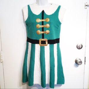 Elf Costume Tacky Christmas Sweater Dress
